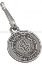 Custom Manufactured Antiqued Metal Zipper Pulls —Nickel