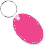 customizable die cut vinyl oval keychain