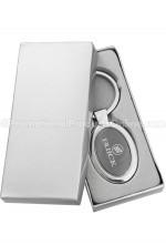 Onyx Oval Custom Metal Keychains