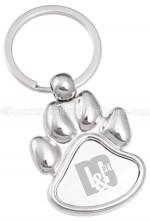 Custom engraved paw print keychains