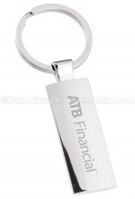 Silver Column Select Series Engraved Keychains