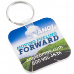 Promotional Keychains - Full Color Square with Rounded Corners