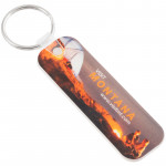 Full Color Long Rectangle Promotional Keychain