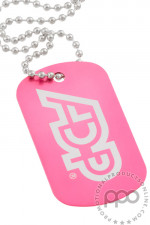 Pink Customizable Dog Tags