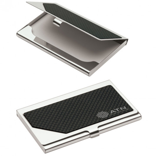 metal business card case with inset carbon fiber business card holders office ppo - Metal Business Card Case