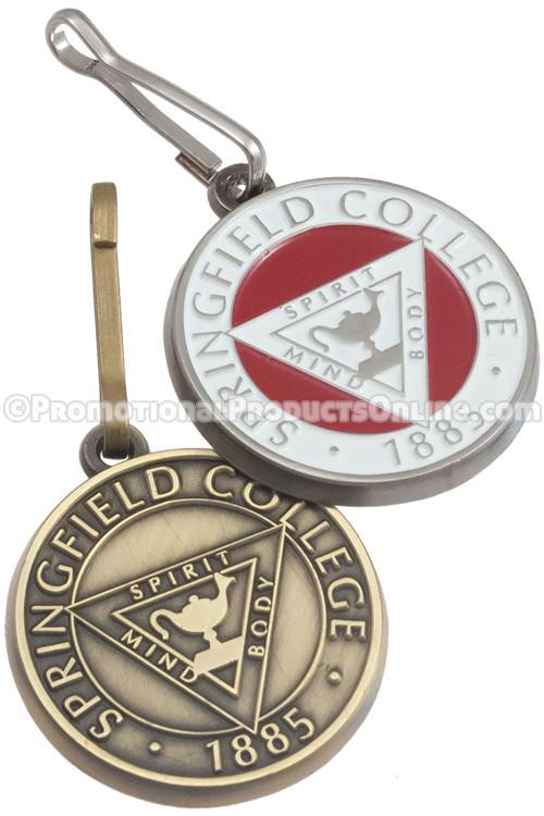 Custom Manufactured Antiqued Metal Zipper Pulls