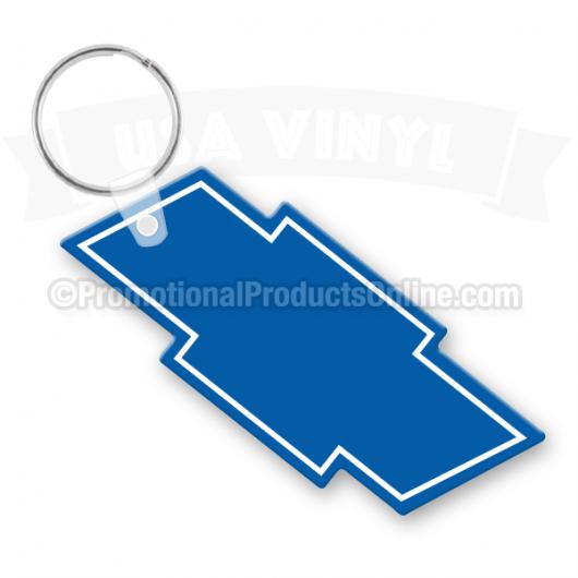 Chevy Bow Tie Vinyl Keychain