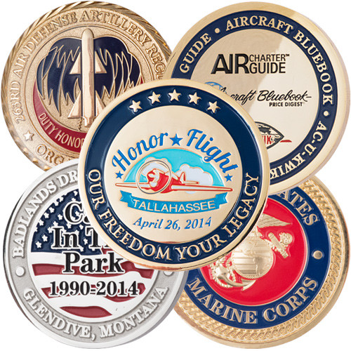 Custom Made Challenge Coins - Soft Enamel Colors | PPO