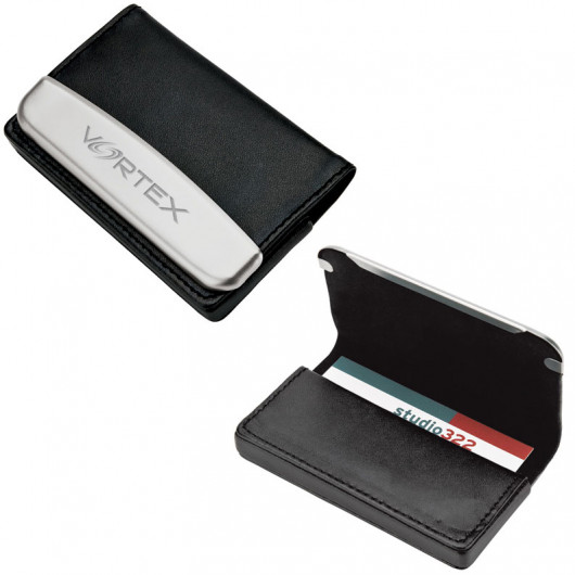 Dual Sided Leather Magnetic Business Card Case Holders Office Ppo
