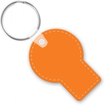 customizable die cut vinyl round with rec keychain