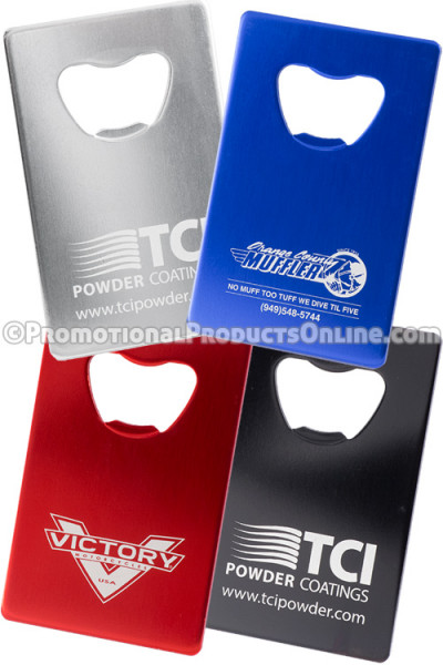 Logo Engraved Credit Card Bottle Openers
