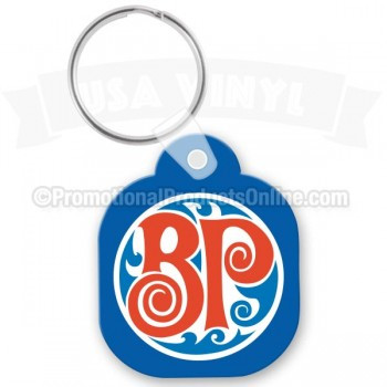 Square with Rounded Corners Vinyl Custom Key Tags