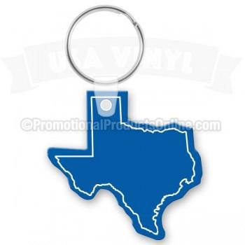 US State Shape Vinyl Keychains | PPO