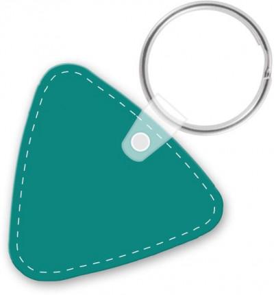 customizable die cut vinyl triangle keychain