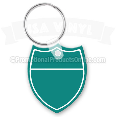 Shield Shape Vinyl Keychain