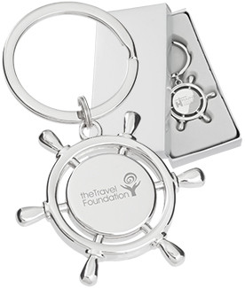 Custom Engraved Ships Helm Keychains