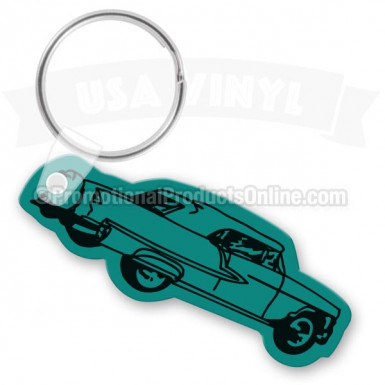 Chevy Bow Tie Vinyl Keychain - Cool Die Cut Shapes - Soft