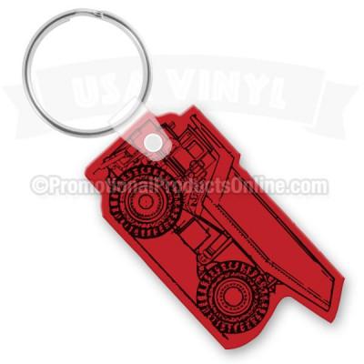 Dump Truck Vinyl Keychain