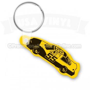 Race Car Vinyl Keychain