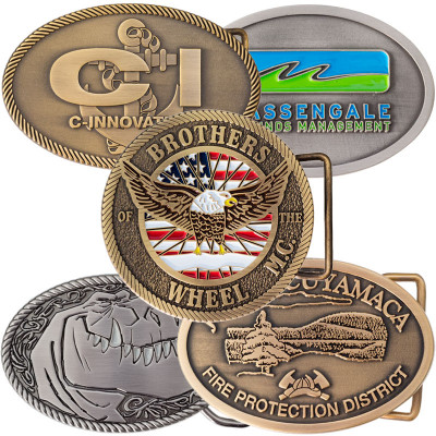 Classic Antiqued Custom Belt Buckles
