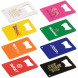 Stainless Steel Colored Credit Card Bottle Openers