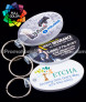 Full Color Oval Vinyl Keychains
