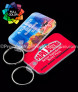 Full Color Midsized Rectangle Vinyl Custom Keychains