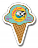 Magnet Ice Cream Cone Shape 25 Mil