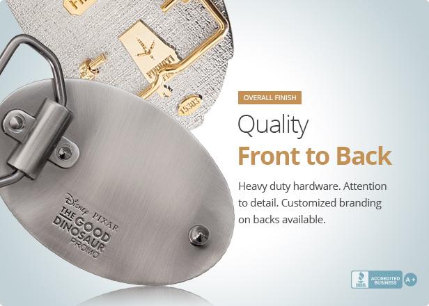 Belt Buckles with Branded Custom Backs