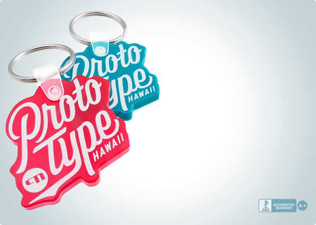 Customizable Die Cut Vinyl Keychains