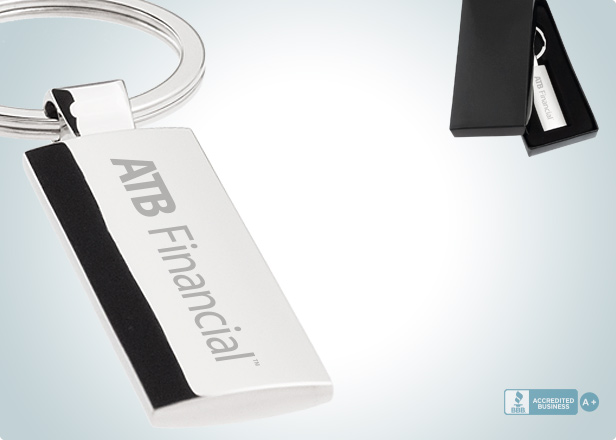 Sleek Silver Custom Engraved Metal Keychains